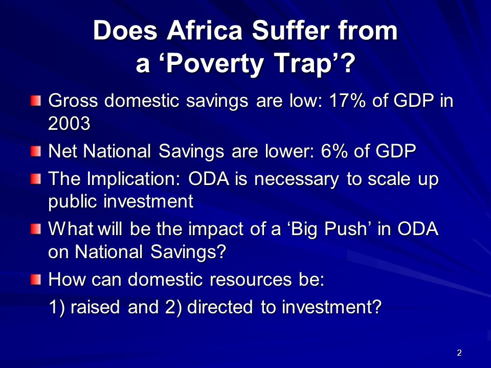 2 Does Africa Suffer from a Poverty Trap.