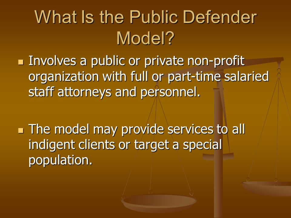 What Is the Public Defender Model.