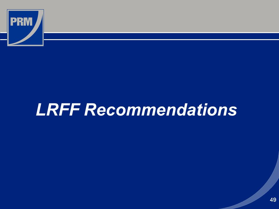49 LRFF Recommendations