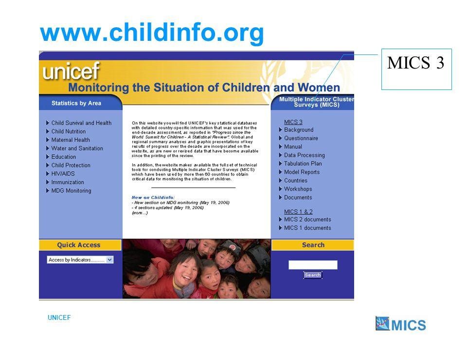 www.childinfo.org MICS 3