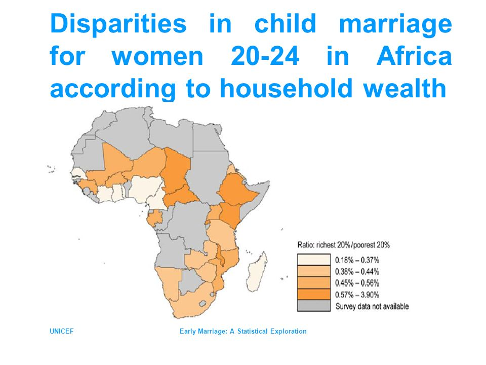 UNICEFEarly Marriage: A Statistical Exploration Disparities in child marriage for women 20-24 in Africa according to household wealth