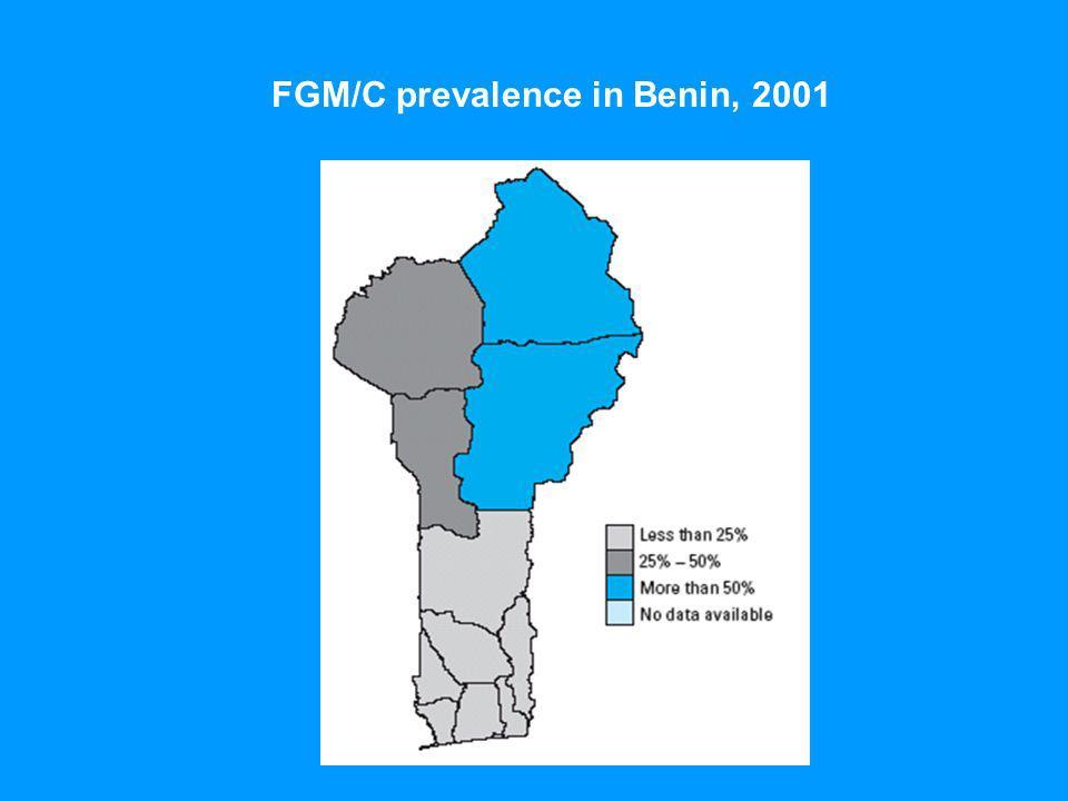 FGM/C prevalence in Benin, 2001