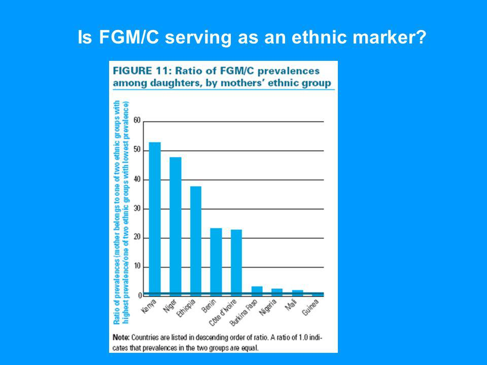 Is FGM/C serving as an ethnic marker