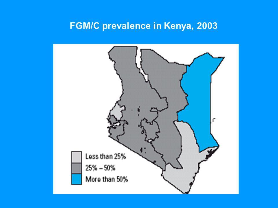 FGM/C prevalence in Kenya, 2003