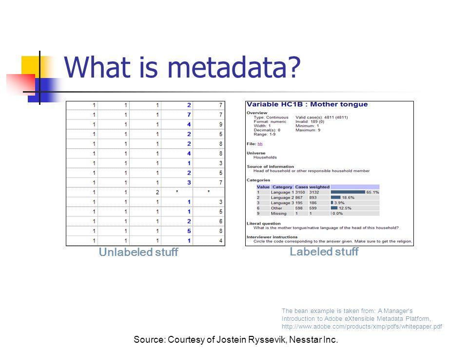 Metadata – user view HTML PDF