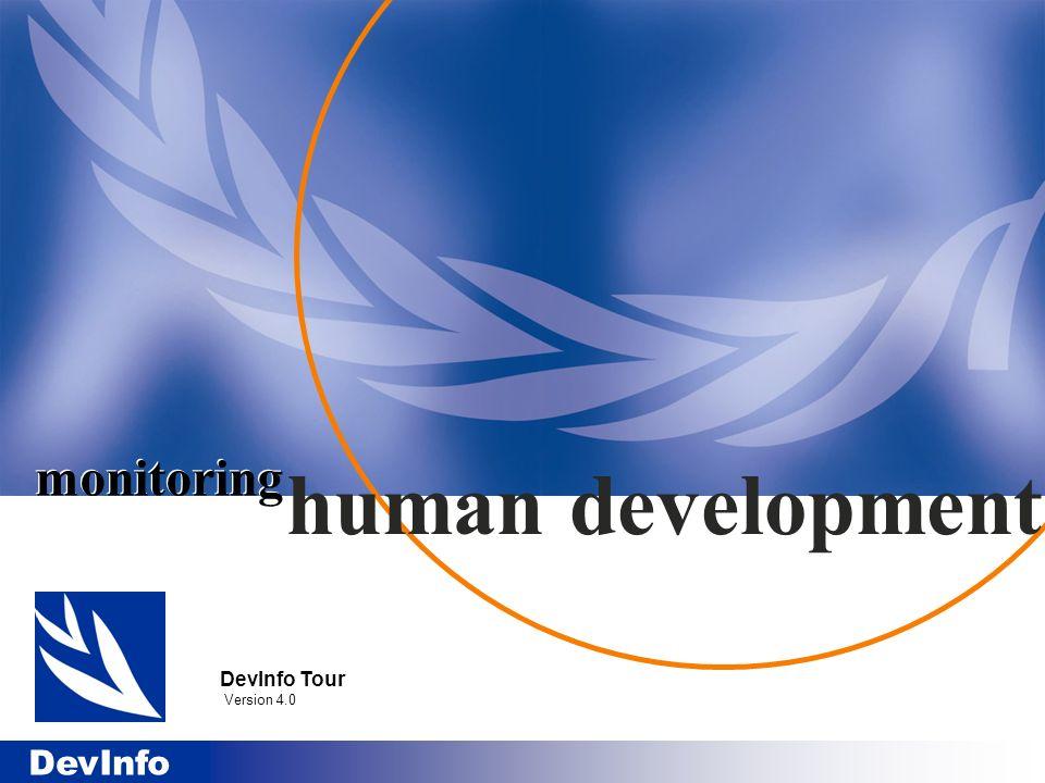 DevInfo monitoring DevInfo Tour Version 4.0 human development