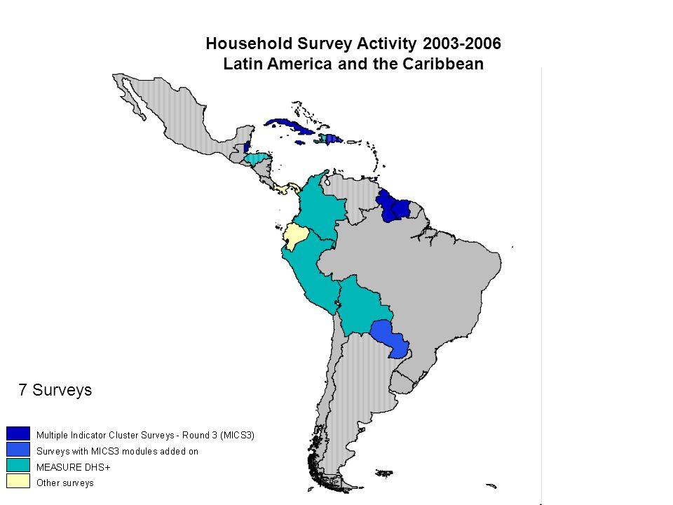 Household Survey Activity 2003-2006 Latin America and the Caribbean 7 Surveys