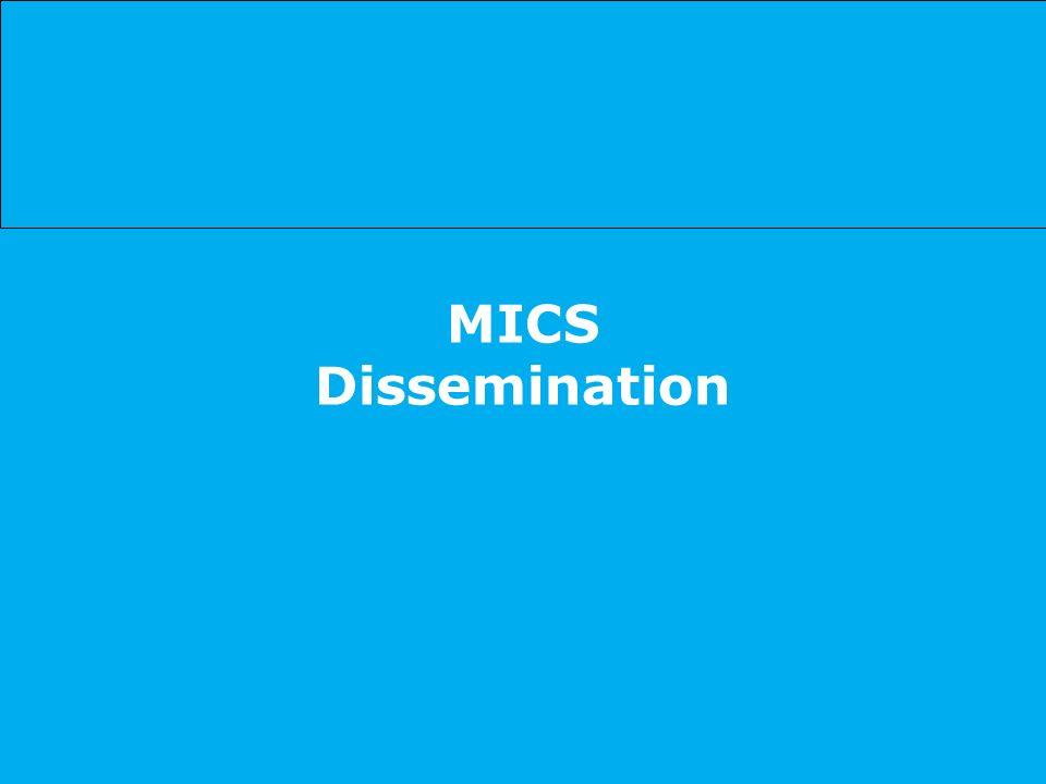 MICS Dissemination