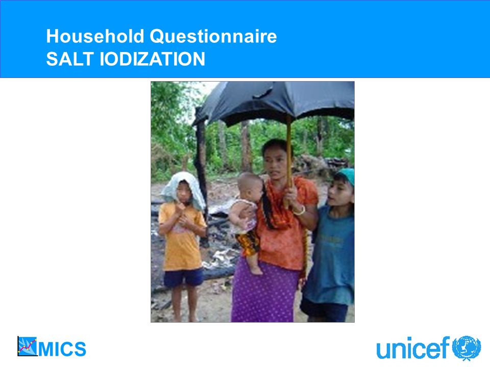 Household Questionnaire SALT IODIZATION