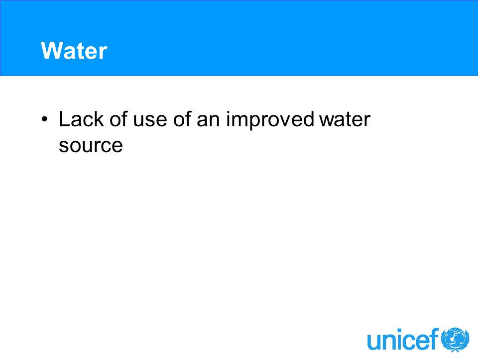 Water Lack of use of an improved water source