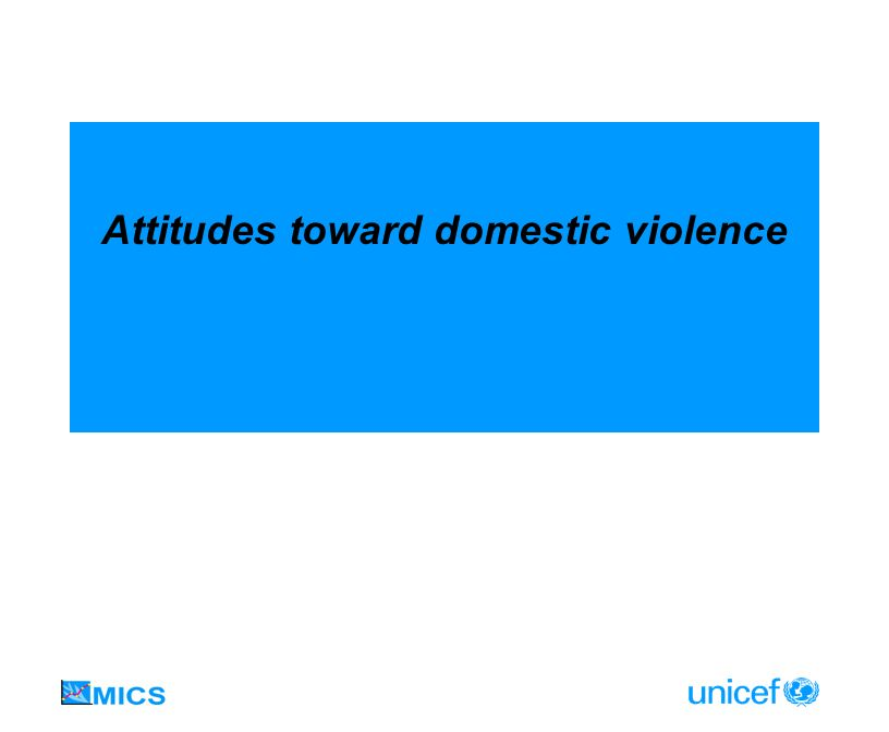 Attitudes toward domestic violence