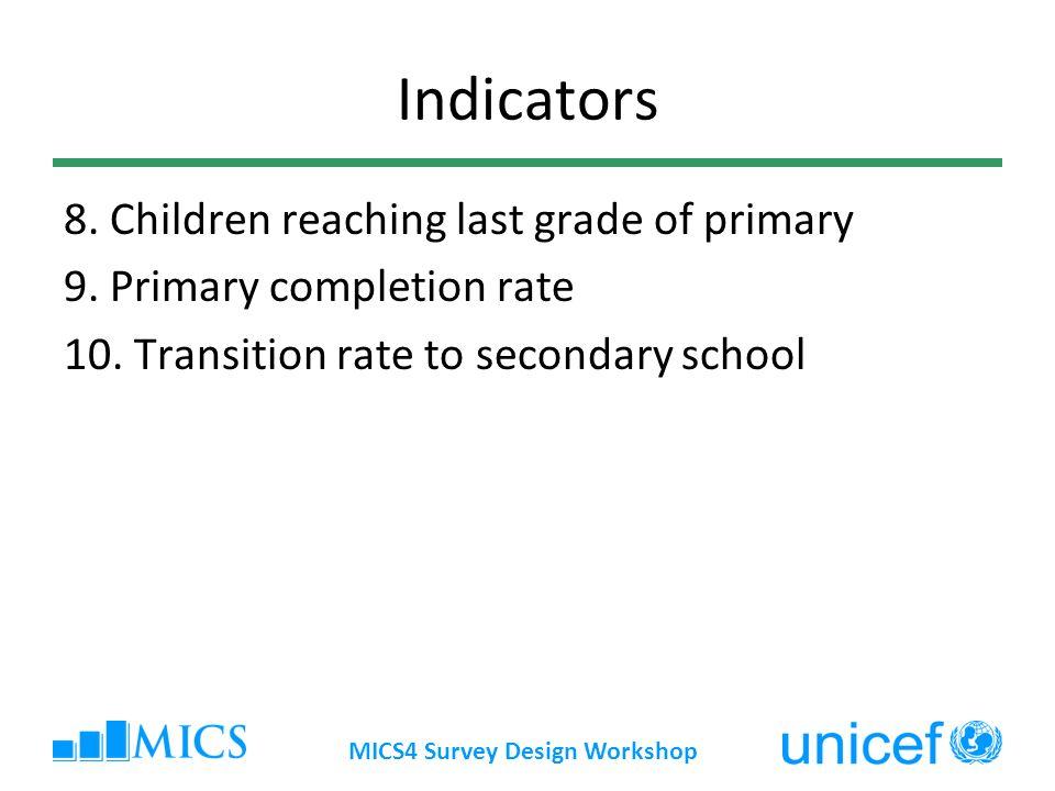 MICS4 Survey Design Workshop Ages 3 and 4: Preschool attendance