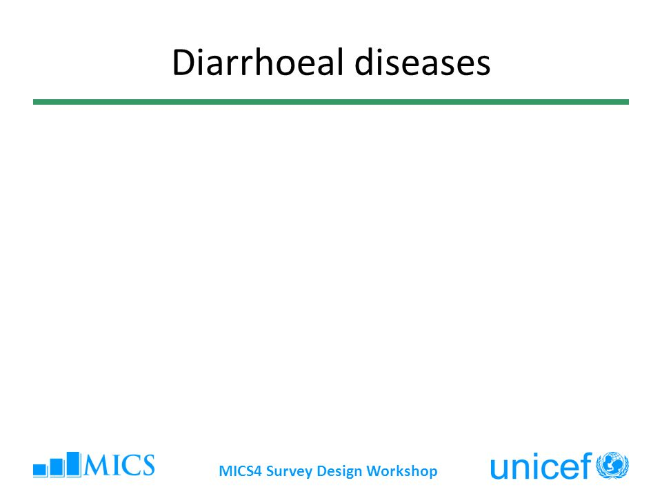 MICS4 Survey Design Workshop Diarrhoeal diseases