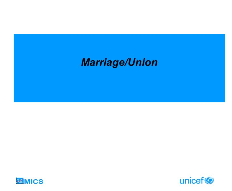 Marriage/Union