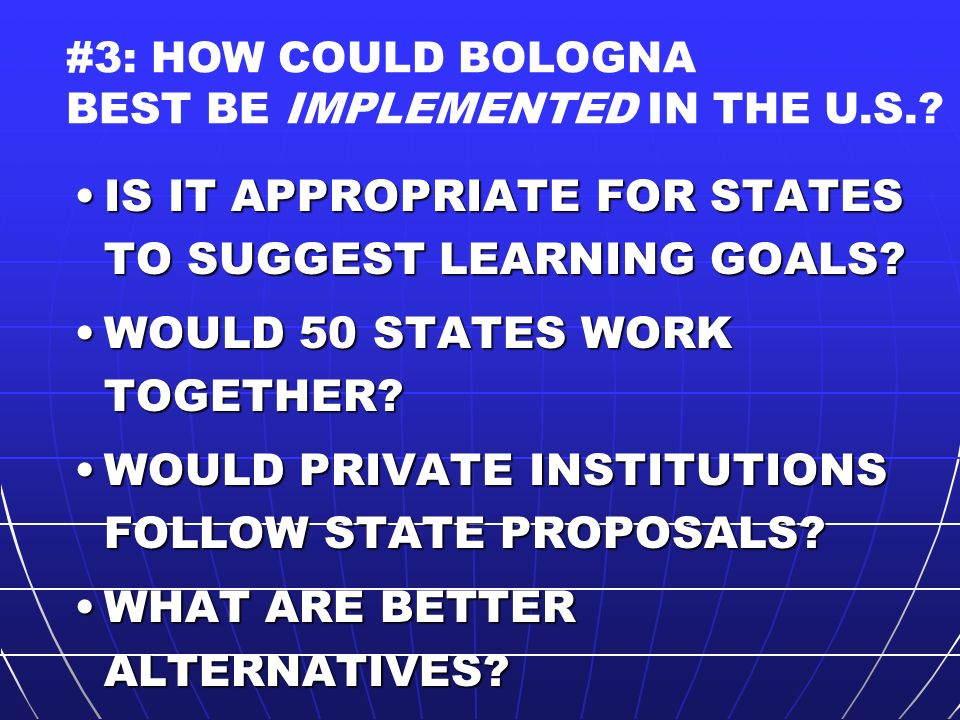 IS IT APPROPRIATE FOR STATES TO SUGGEST LEARNING GOALS IS IT APPROPRIATE FOR STATES TO SUGGEST LEARNING GOALS.