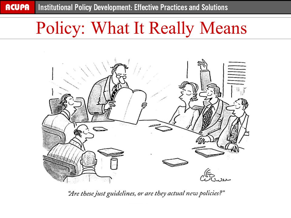 Policy: What It Really Means