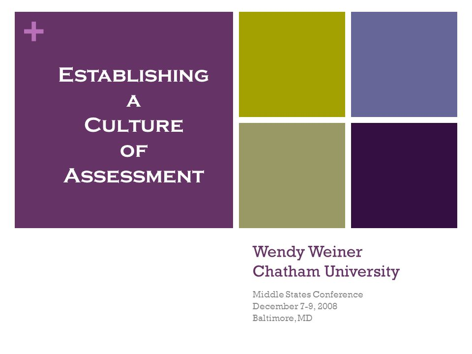 + College-wide Involvement in Institutional Effectiveness Going beyond student learning outcomes.