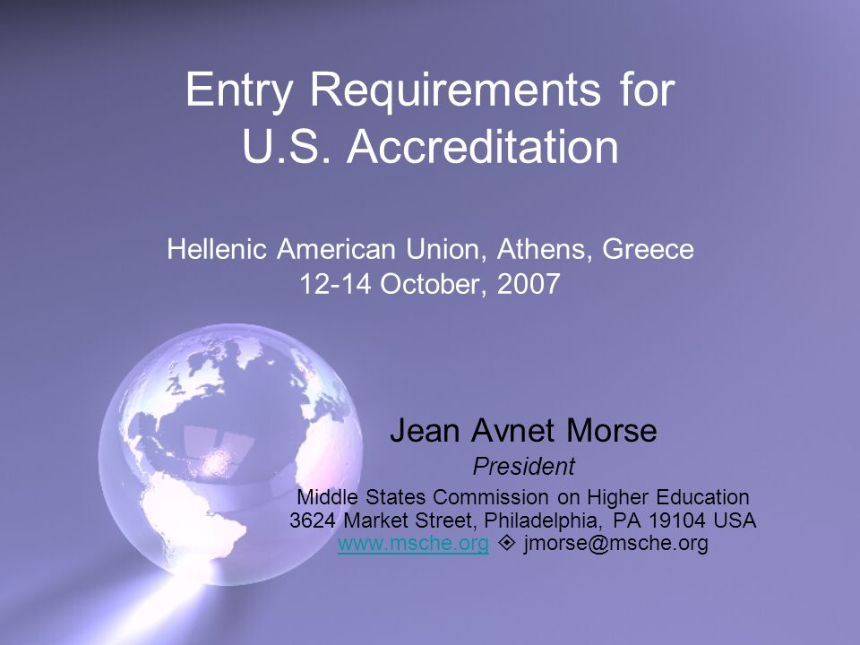 Entry Requirements for U.S.