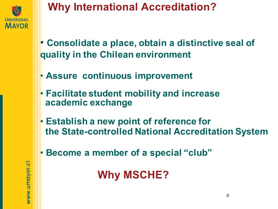 6 Why International Accreditation.