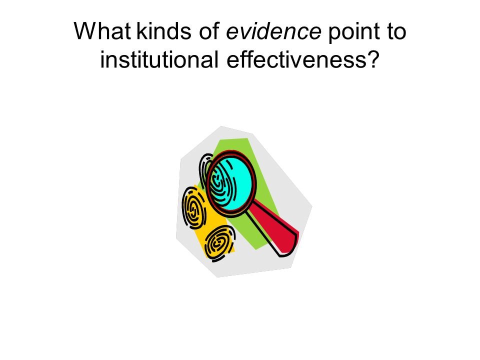 What kinds of evidence point to institutional effectiveness