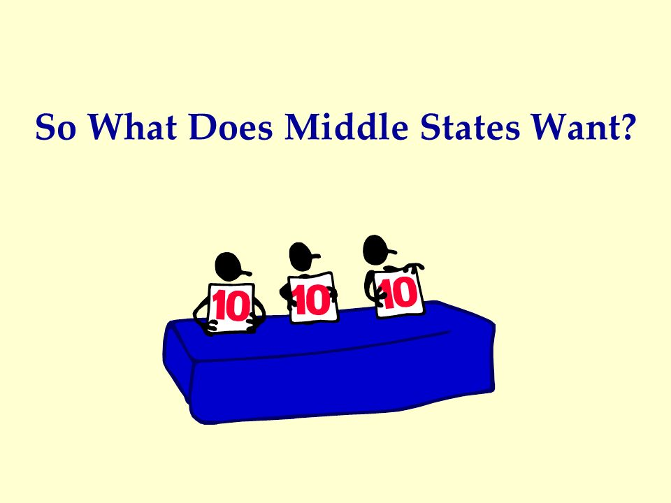 So What Does Middle States Want?