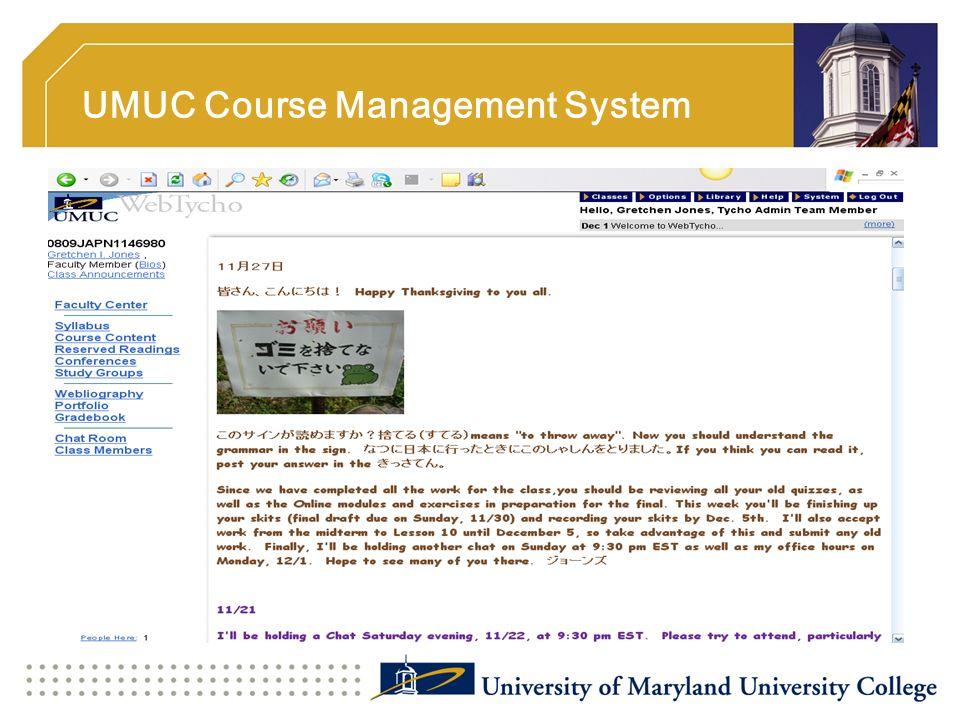 UMUC Course Management System