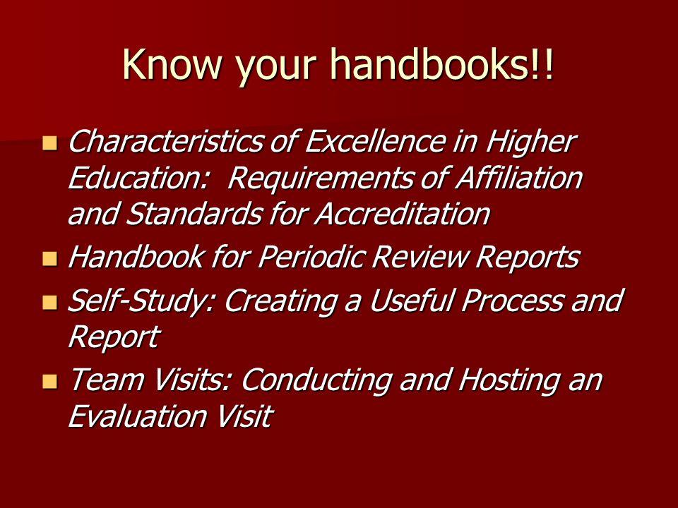 Know your handbooks!.