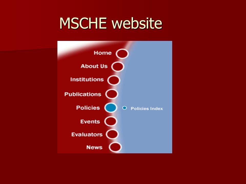 MSCHE website