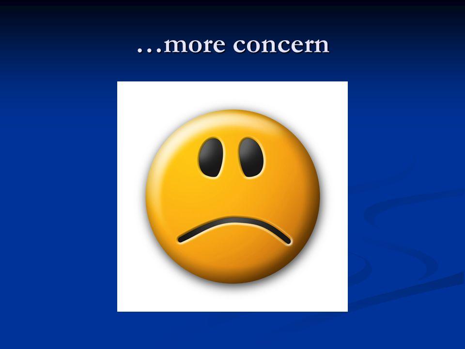…more concern