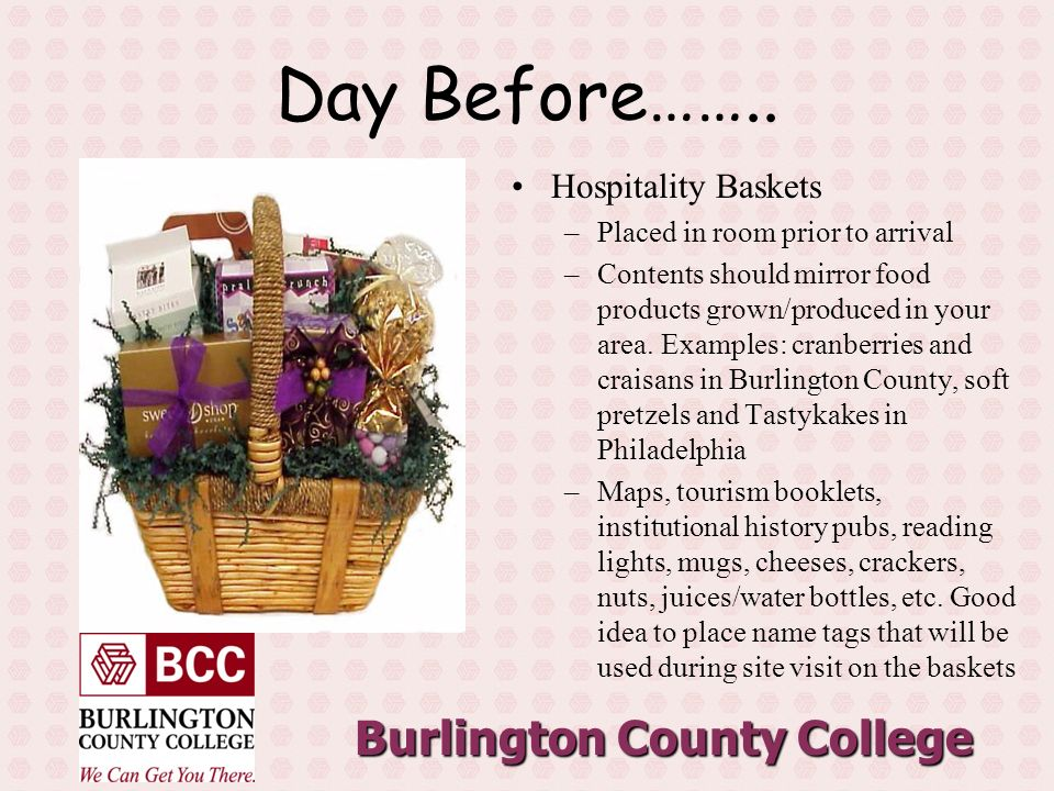 Burlington County College Day Before……..