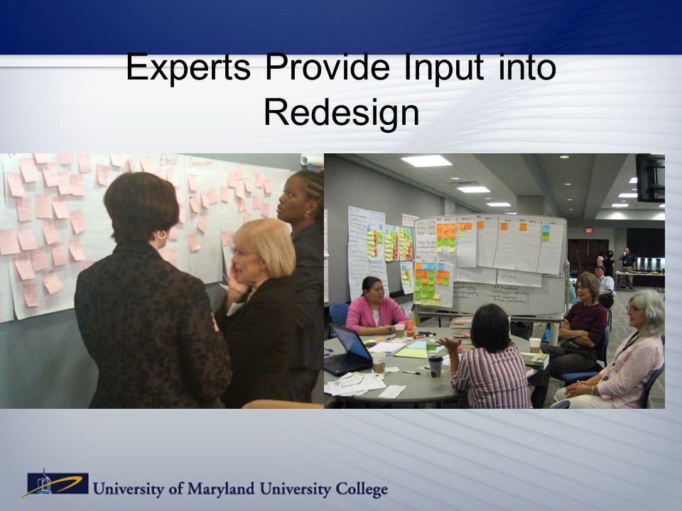 Experts Provide Input into Redesign