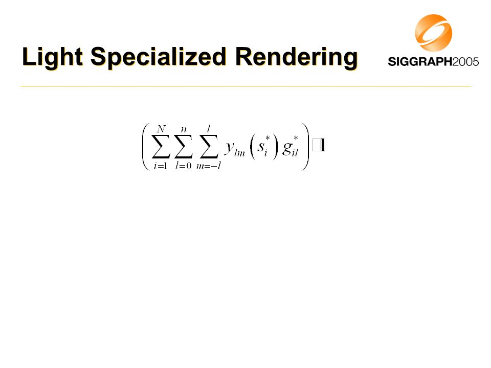 Light Specialized Rendering