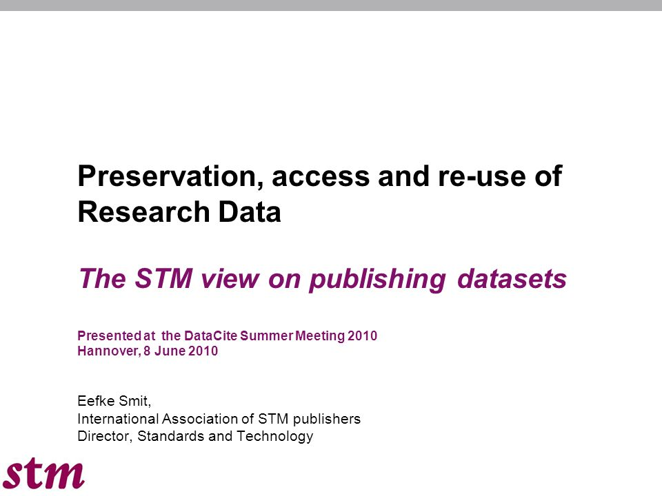 12 Research data and the Publishers Mission Can we contribute to the data dissemination/retrieval process.