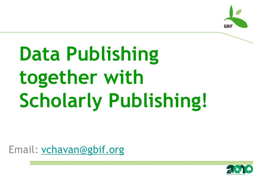 Data Publishing together with Scholarly Publishing!