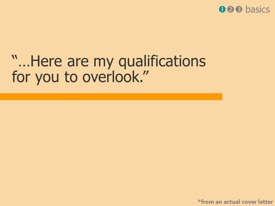 Cover letters must be perfect!