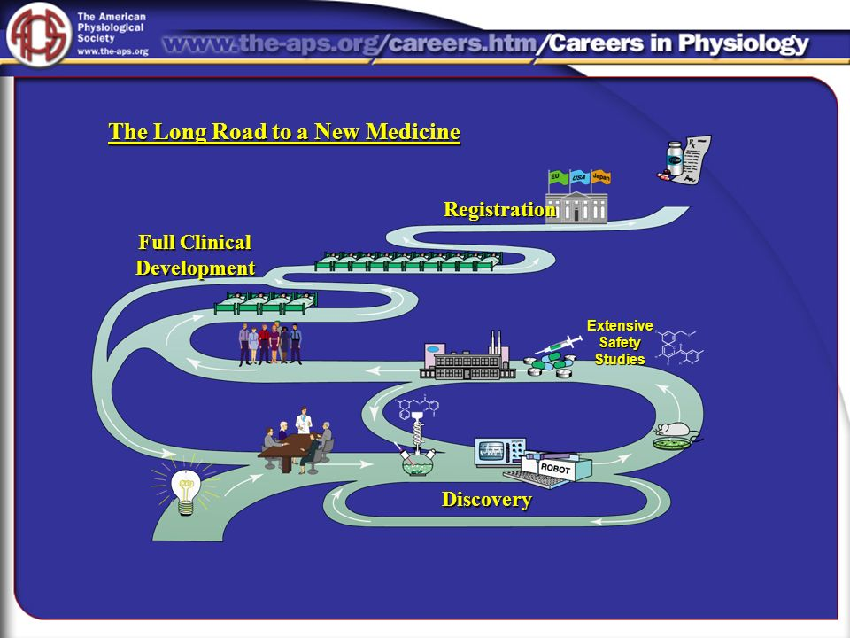 Discovery Full Clinical Development Registration ExtensiveSafetyStudies The Long Road to a New Medicine