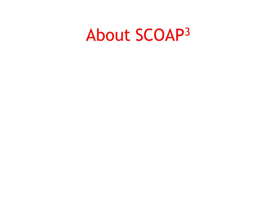 About SCOAP 3