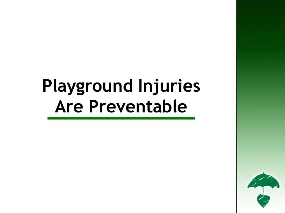 Playground Injuries Are Preventable Playground Injuries are Preventable