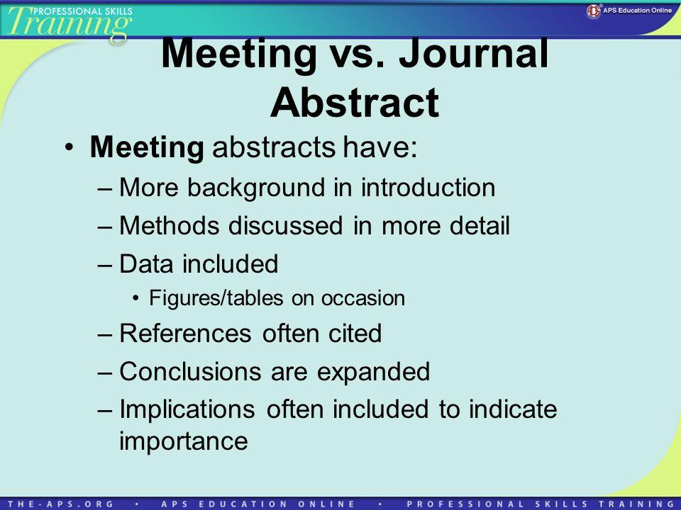 Meeting vs.