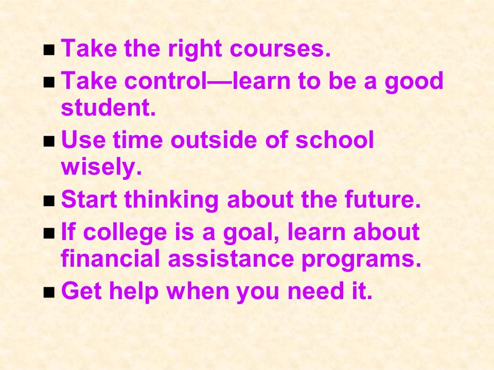 Take the right courses. Take controllearn to be a good student.