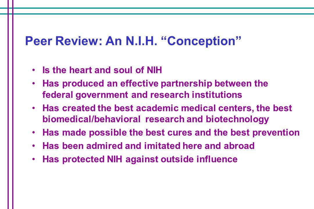 Peer Review: An N.I.H.