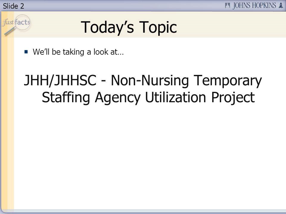 Slide 3 Todays Presenter Mary Li Sr. Project Admin at Hopkins