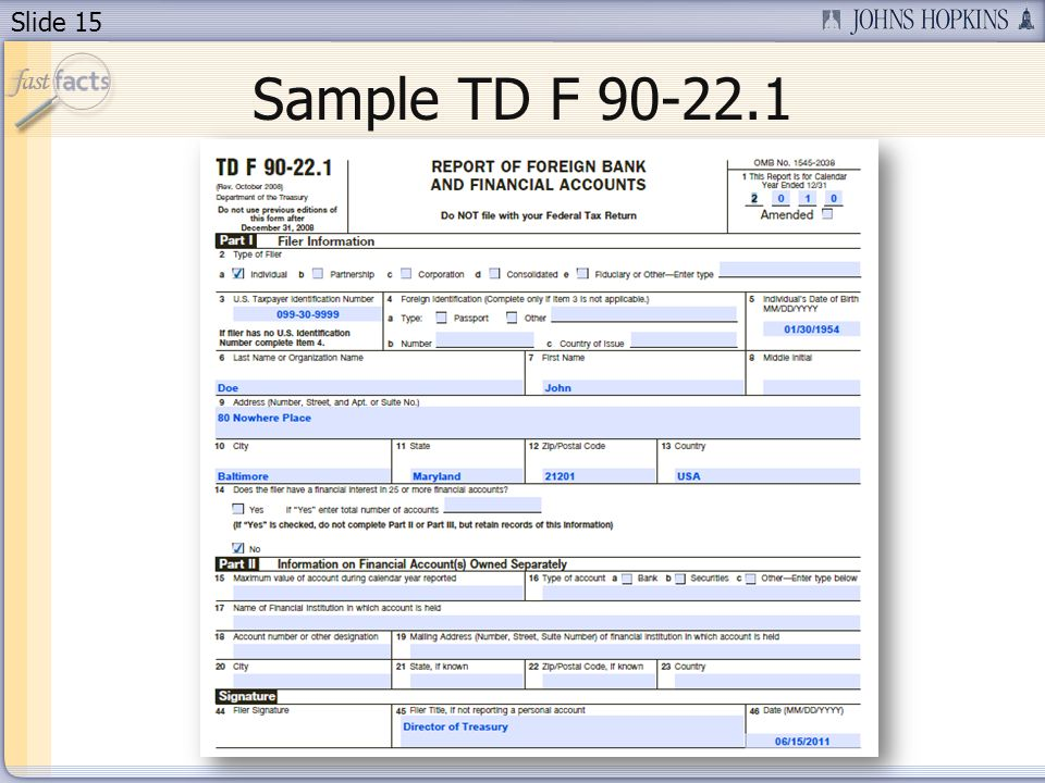 Slide 15 Sample TD F