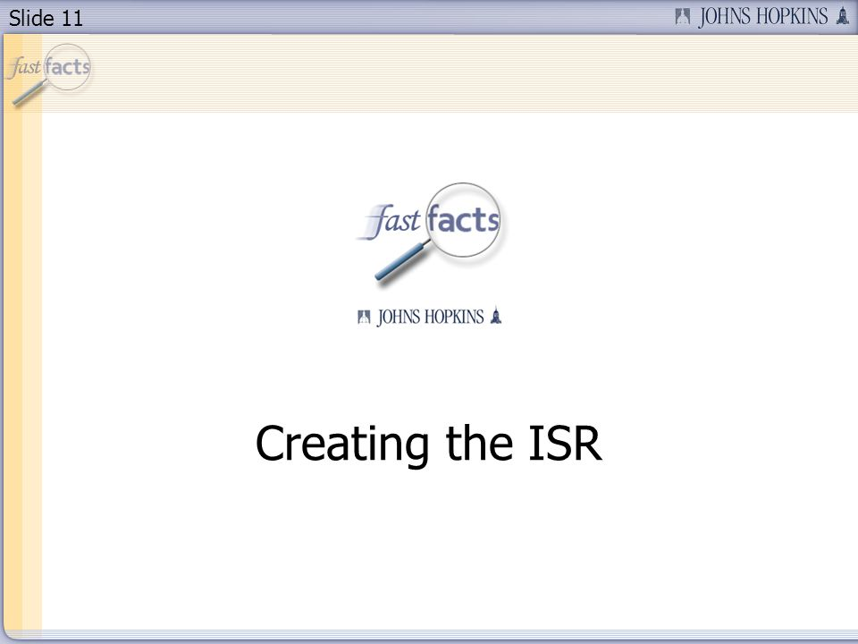 Slide 11 Creating the ISR