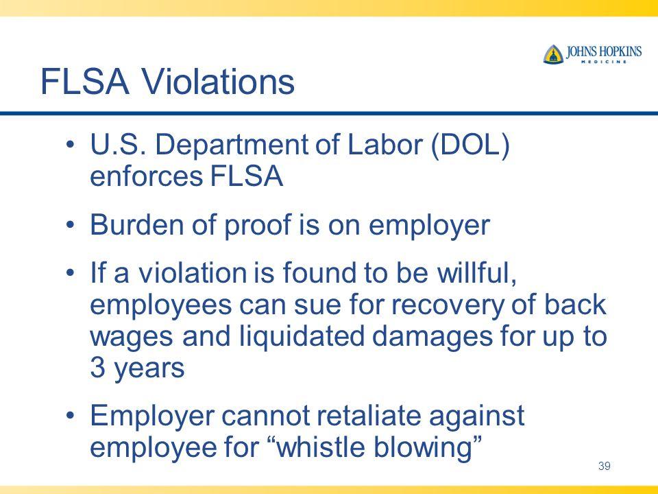 FLSA Violations U.S.
