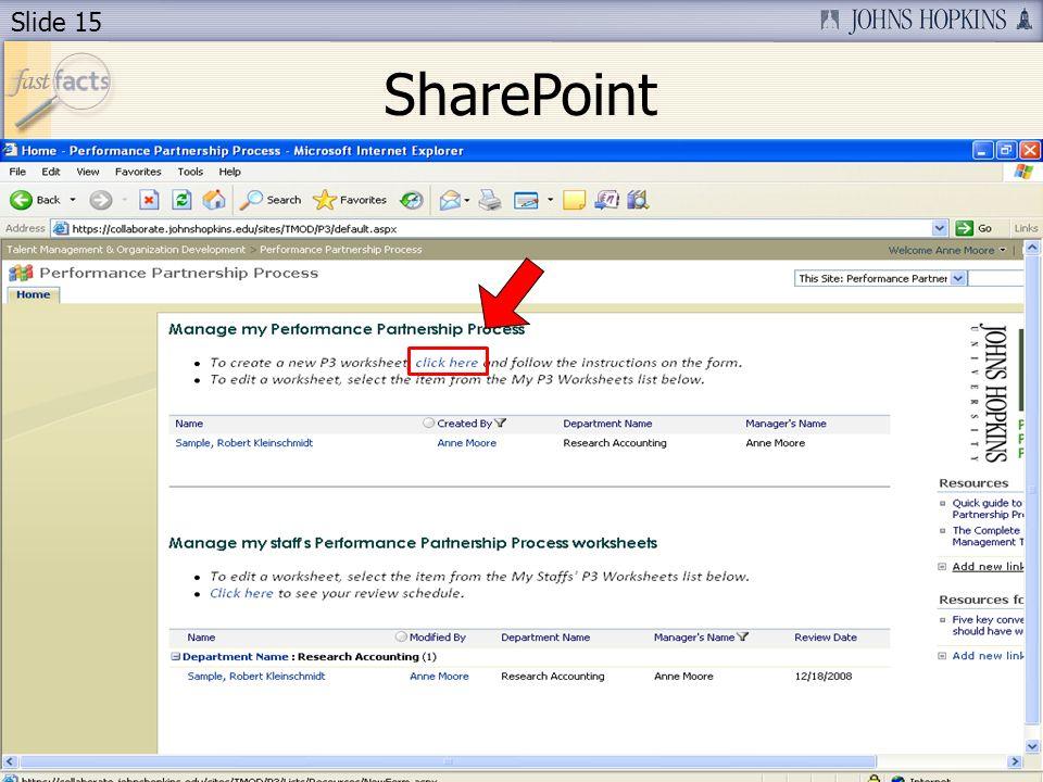 Slide 15 SharePoint