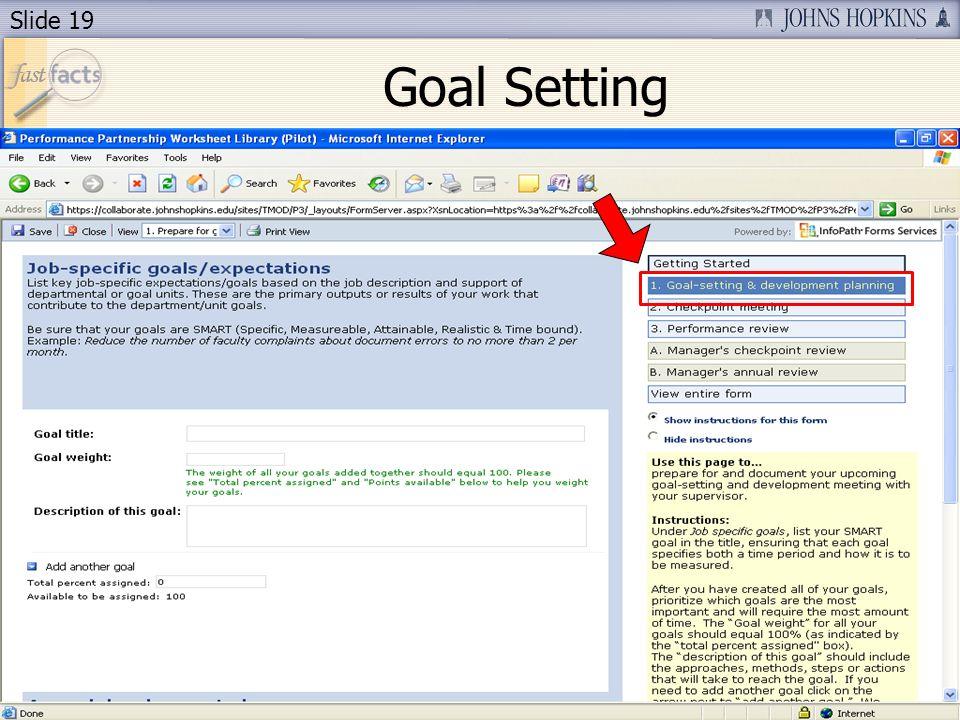 Slide 19 Goal Setting