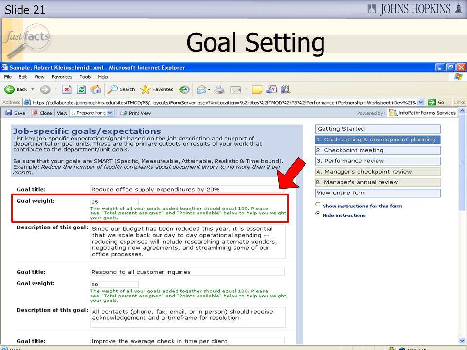 Slide 21 Goal Setting