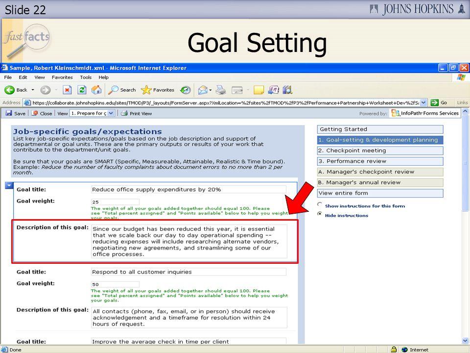 Slide 22 Goal Setting