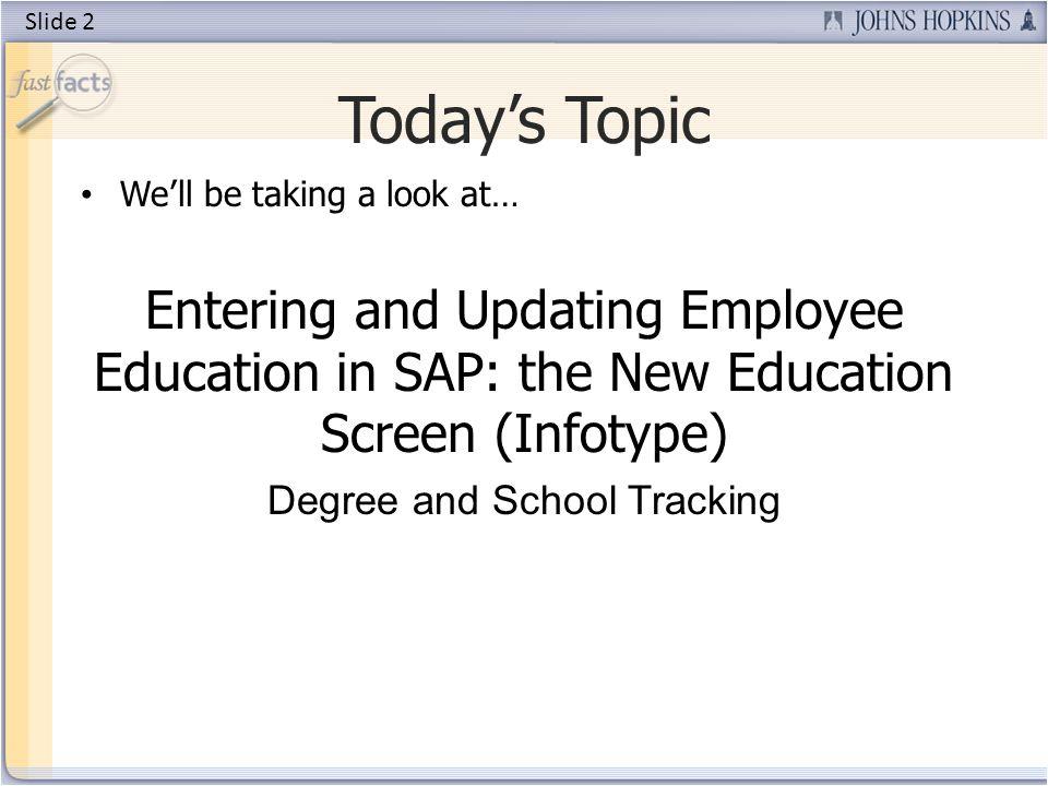 Todays Presenters Sadhya Sabatino SAP Trainer Slide 3